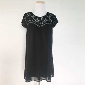 Tops - Black Lace Top Tunic Blouse